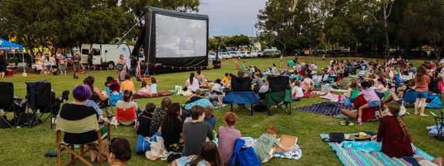 Outdoor Cinema in the Suburbs