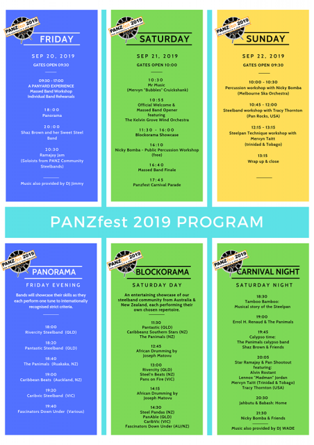 Panzfest-program